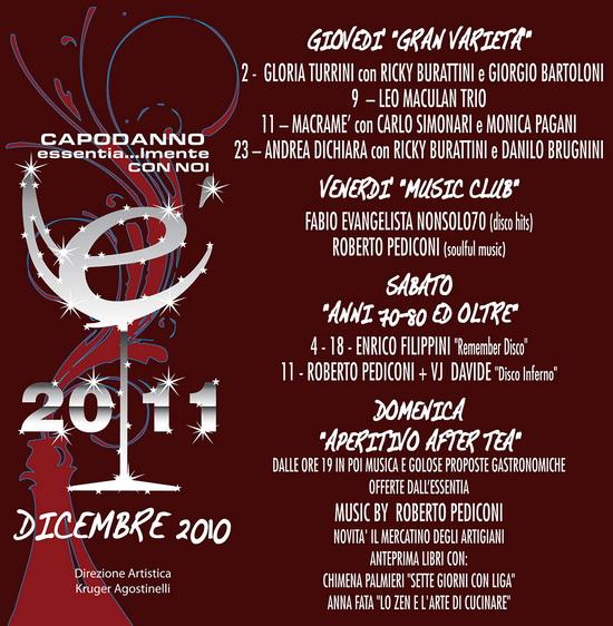 Essentia Chiaravalle calendario programma Dicembre 2010