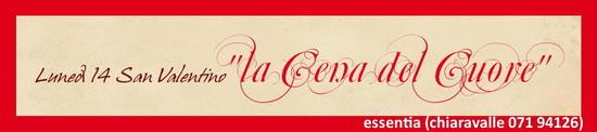 ESSENTIA Chiaravalle San Valentino la cena del cuore