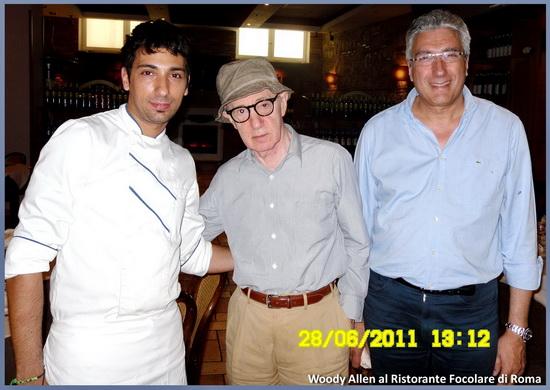 Woody Allen Roma Ristorante il Focolare Roberto Andrea Stagnetta