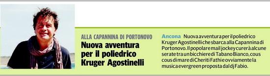 Kruger Agostinelli Corriere Adriatico Portonovo
