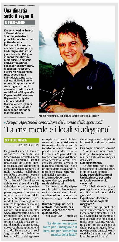 Kruger_Agostinelli_Corriere_Adriatico_27_luglio_2012_Cristina_Gioacchini