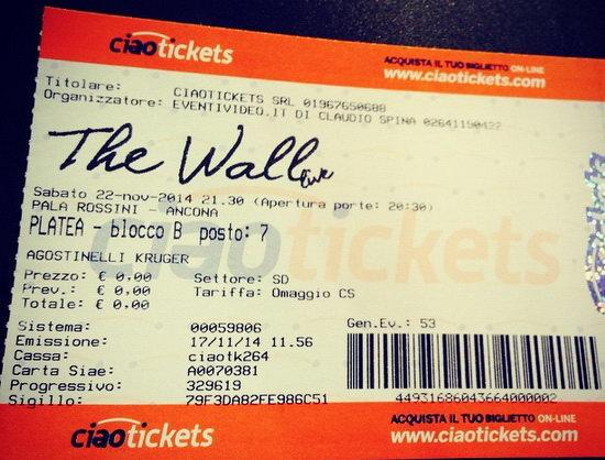 The Wall live 2014 biglietto