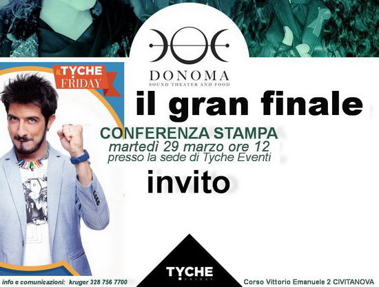 Donoma Tyche friday conferenza stampa 2016