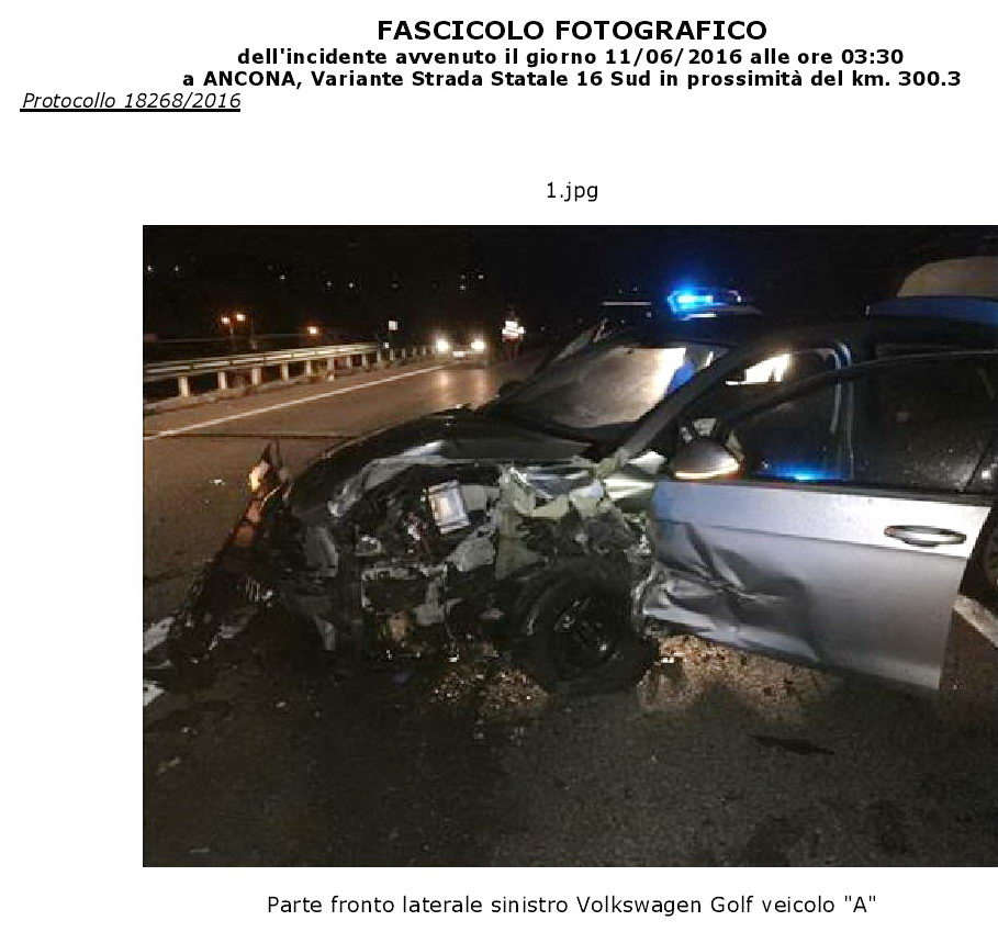 incidente kruger agostinelli 11 giugno 2016