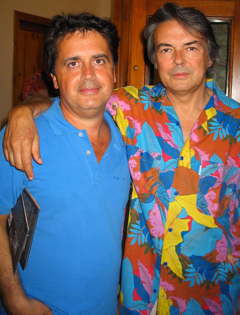 Mauro Pagani (PFM De Andrè) e Kruger Agostinelli luglio 2005 Falconara Corte del Castello