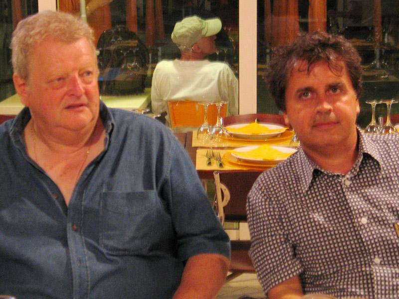 Mick Abrahams (Jethro Tull) e Kruger Agostinelli 4 luglio 2005 Falconara Corte del Castello