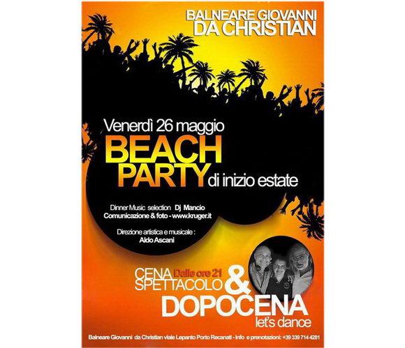 Balneare Giovanni Beach Party Porto Recanati