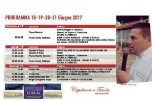 Capolavori a Tavola 2017 - Programma Italian Cuisine in the World Forum