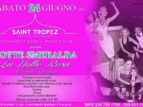 Notte Smeralda la notte rosa del Saint Tropez