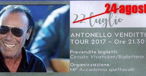 Antonello-Venditti-Porto-Recanati rinviata