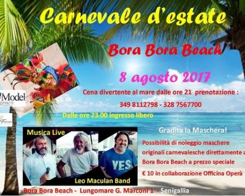 Carnevale d'estate al Bora Bora Beach Senigallia