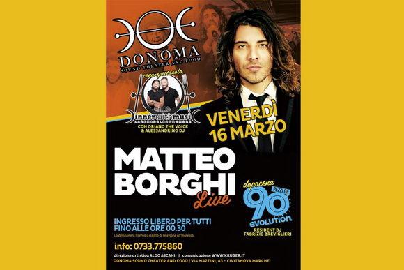 Matteo Borghi Donoma marzo 2018