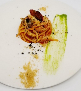 Spaghetti Senatore Cappelli Semi Integrali alla puttanesca Paolo Paciaroni Borgo Lanciano