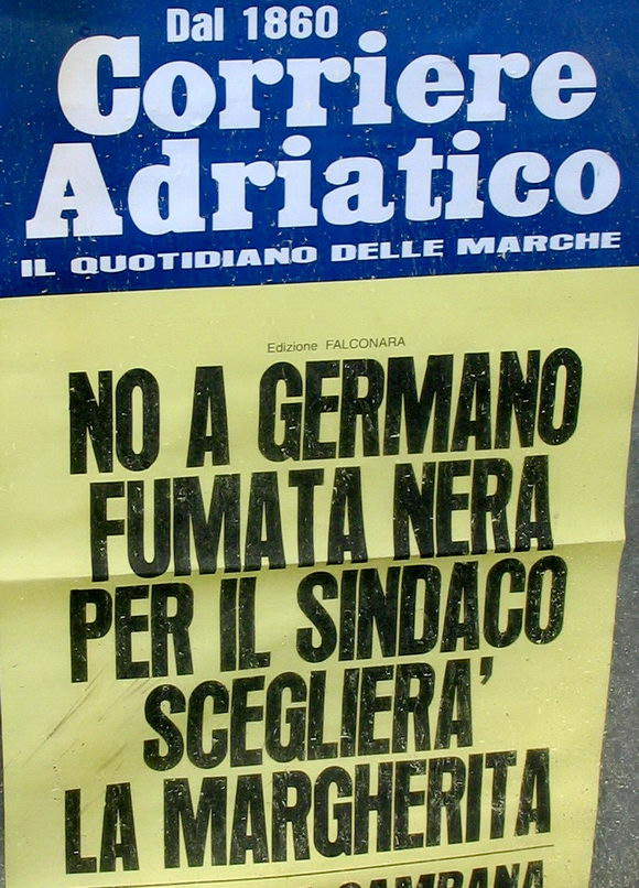 Corriere Adriatico Locandina 16 aprile 2006