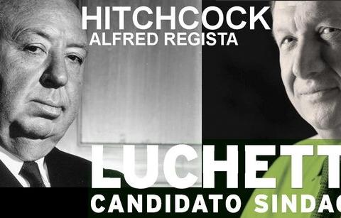 Marco Luchetti come Alfred Hitchcock