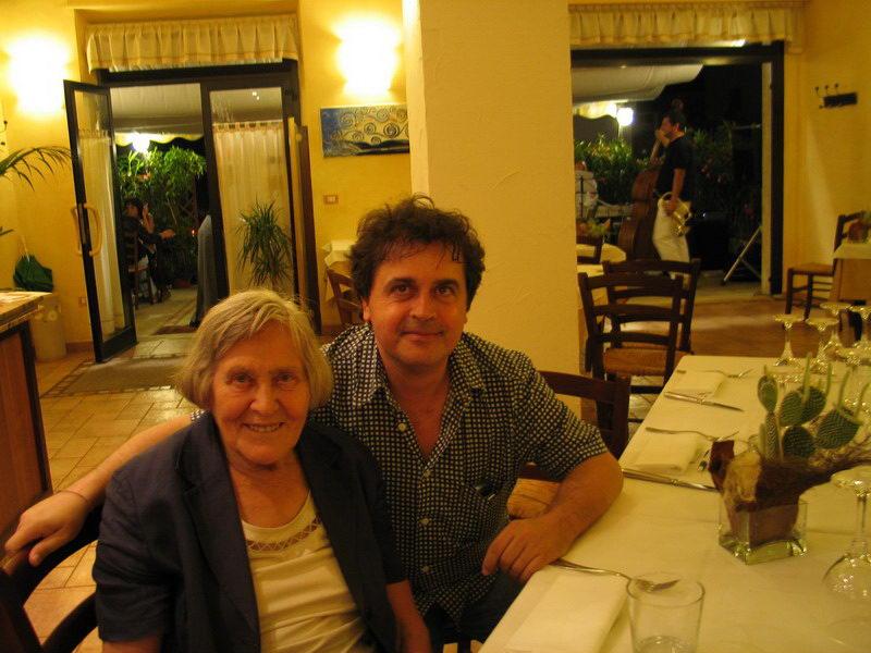Margherita Hack e Kruger Agostinelli 16 luglio 2004 Falconara Arnia del Cuciniere